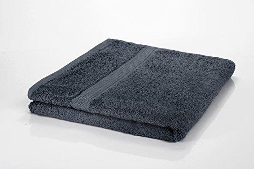 Etérea Handtuch Frotteeserie - Duschtuch in Anthrazit, schwere und flauschige 500 g/m² Qualität,...