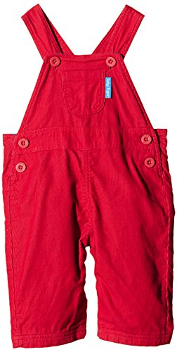 Toby Tiger Jungen, Latzhose, 100% Cotton cord red dungarees, with height adjustable shoulder straps., GR. 92 (Herstellergröße: 2-3 Years), Rot (Red)