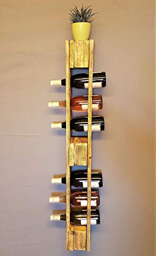 Weinregal Holz vintage Flaschenregal Palette natur Weinflaschenregal Wandregal Regal Hängeregal Palettenregal Palettenmöbel Bar Holzregal Shabby