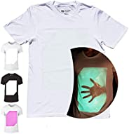 Interactive Glow in The Dark T-Shirt - A Magical Unisex T-Shirt You Can Draw On with Light