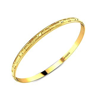 Candere By Kalyan Jewellers Contemporary Collection 22k Yellow Gold Dimple Bangle