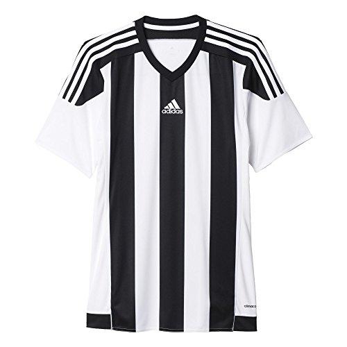 Adidas, Maglia da calcio Uomo a righe 15 Bianco (White/Black)