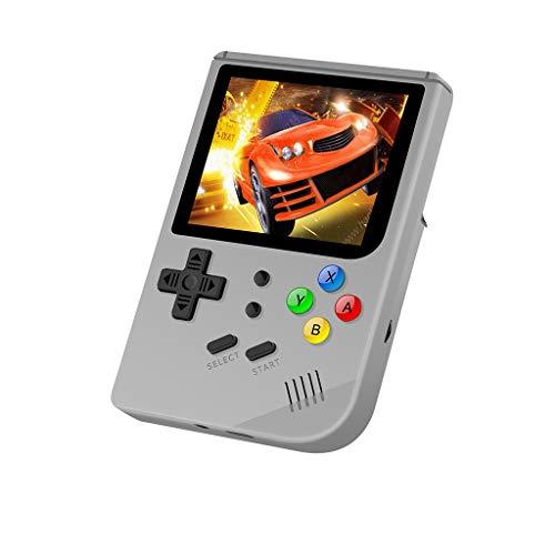 3 Zoll Videospiel für CP1 CP2 NEOGEO GBA GB,Nourich 3.0 Retro Spielekonsole Videokonsole Console Arcade 300 Games RG300 16GB Konsole Konsolen Game Player Videospielkonsole Geschenk (Weiß)