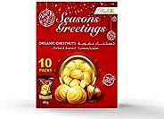 Number 8 Organic Chestnuts - Peeled & Roasted - 40GM x 10 (Seasonal Greetings P