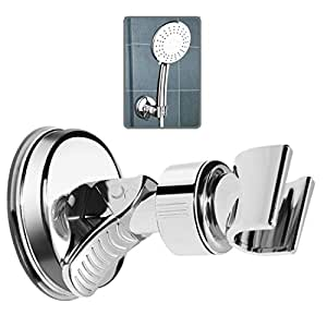 Adjustable Shower Holder Suction Cup with Strong Suction for Universal Shower Head, Chrome