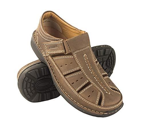 Zerimar Herren Sandalen | Trekking Sandalen für Herren | Sandalen Mann Wandern | Herren Ledersandalen | Männer Sommer Sandalen | Farbe Braun Größe 41