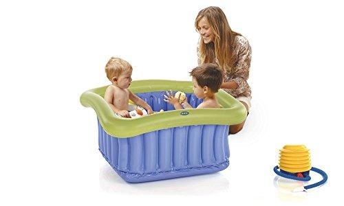 Jane vaschetta gonfiabile per piatto doccia e riduttore per vasca con pompa a pedale, senza ftalati