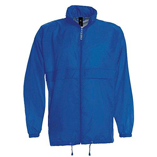 B&C -  Giacca impermeabile  - Con cappuccio  - Opaco - Uomo Blu