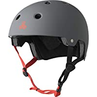 Triple 8 Brainsaver EPS Unisex Rubber Helmet, Grey (Grey), L/XL