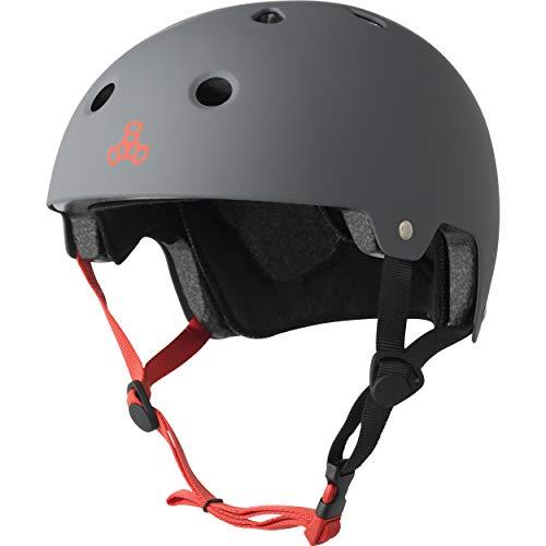 Triple 8 Kopfschutz Brainsaver Double Certification Grau, L/XL (Skating Helm)