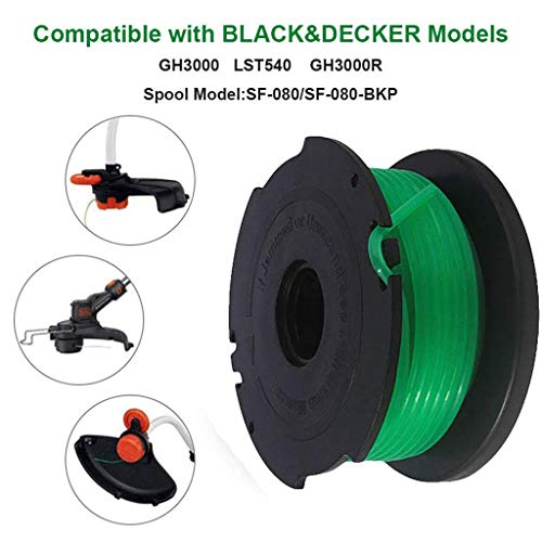 euwanyu Trimmer Replacement Spools Compatible with Black Decker Auto Feed System Replacement Spool Single Line Trimmer Twisted Line Garden Tool -