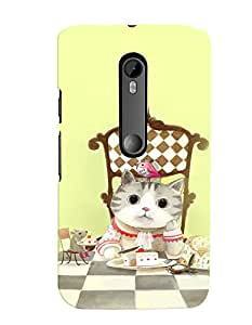 Citydreamz Cute Cat/Cartoon/Funny Hard Polycarbonate Designer Back Case Cover For Motorola Moto G Dual SIM (Gen 3), Motorola Moto G3 Dual SIM