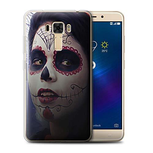 Stuff4® Gel TPU Hülle/Case für Asus ZenFone 3 Laser ZC551KL / Halloween Bilden Muster/Tag Der Toten Festival Kollektion