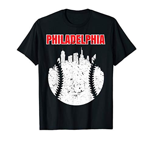 Vintage Philadelphia Cityscape Baseball Retro T-Shirt T-Shirt