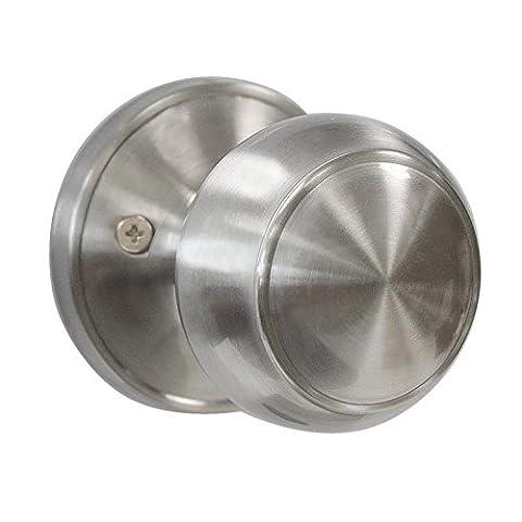 Probrico 1 PCS Round Door Handle On Rose Stainless Steel Door Knob Satin Nickel DL609SNDM