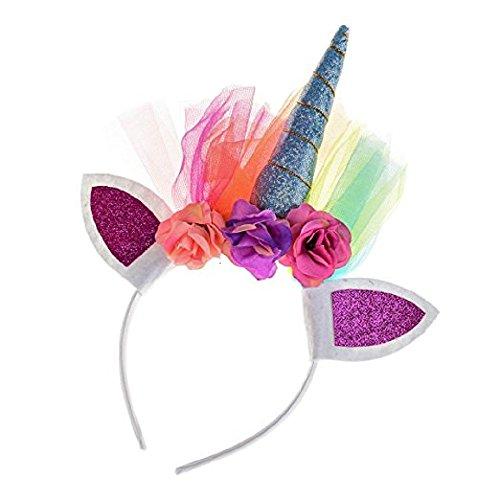 Shangrui Net Yarn Princesa Espirales Cuerno Diademas de Cabeza Accesorio de Fiesta de Carnaval Cumpleaños