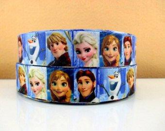 Allen beliebten Charakteren 2.54 cm, gefroren, 25 mm, frozen Prinzessinnen cartoon Geschenkband, grosgrain, bedruckt, Kuchen, Schnuller, Geschenkverpackung und Basteln, Verkauf pro yard (Kuchen Gefrorene Disney)