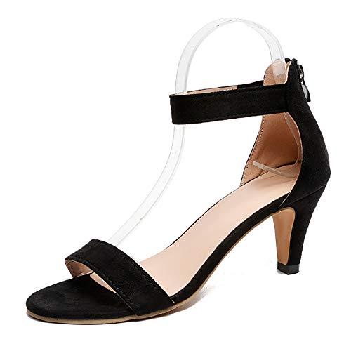 Sandalias Mujer Tacón Medio Verano Zapatos Correa