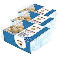 La Croquetera - Pack de 60 bandejas apilables y Reutilizables - para 600 masas (croquetas