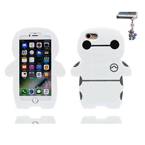 iPhone 7 Copertura,iPhone 7 Custodia,TPU del cavallo pesca 3D Cartoon cover per iPhone 7 4.7inch + Spina di polvere bianca