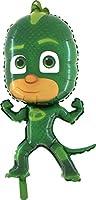 Un pallone gigante raffigurante Gekko, uno dei tre personaggi della serie PJ Masks, il cartone animato dell'anno. Questo pallone Ú stampato su entrambi i lati ed ha un'altezza di 100 centimetri. Per poter rimanere sospeso, galleggiando, deve...