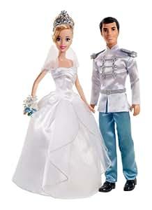 Mattel x2846 : Mariage : Couple de Mariés : Cendrillon et son Prince charmant ( Disney Princess )