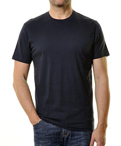 RAGMAN Herren RAGMAN T-Shirt rundhals Singlepack Marine XXX-Large (Herren T-shirt Marine Blau)