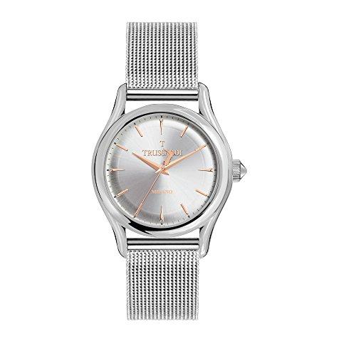TRUSSARDI Reloj Analógico para Hombre de Cuarzo con Correa en Acero Inoxidable R2453127003