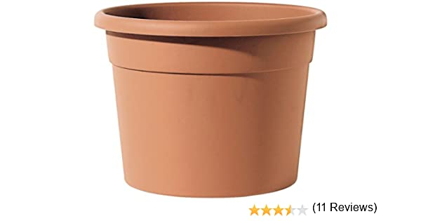 Telcom ICIL 50 Cilindro Diana Vaso cilindrico di plastica per Piante Altezza 38 cm Diametro 50 cm Colore: Terracotta