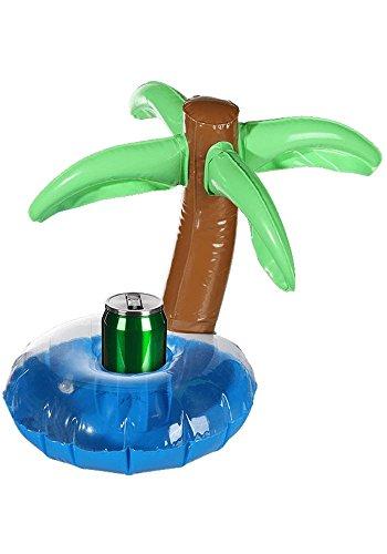 Aufblasbarer Getränkedosenhalter Insel mit Palme