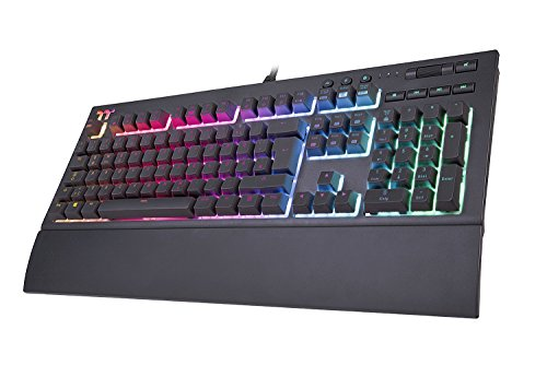 Thermaltake TT Premium X1 RGB Cherry Silver Speed Switch Gaming Tastatur (QWERTZ DE-Layout) schwarz -