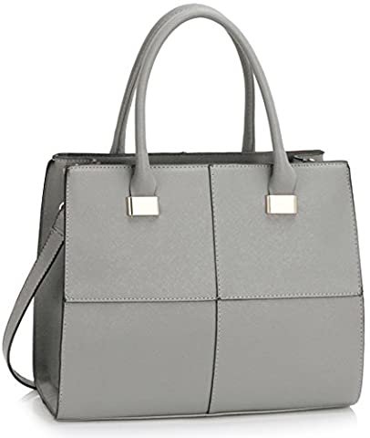 LeahWard Large Women's Tote Bags Nice Great Brand Handbags Hand Luggage Cabin Gym Travel Work Bag For Women 61 (L.GREY