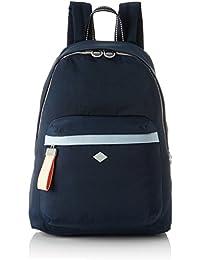 Oilily - Groovy Backpack Lvz, Bolsos mochila Mujer, Azul (Dark Blue), 15x40x28 cm (B x H T)