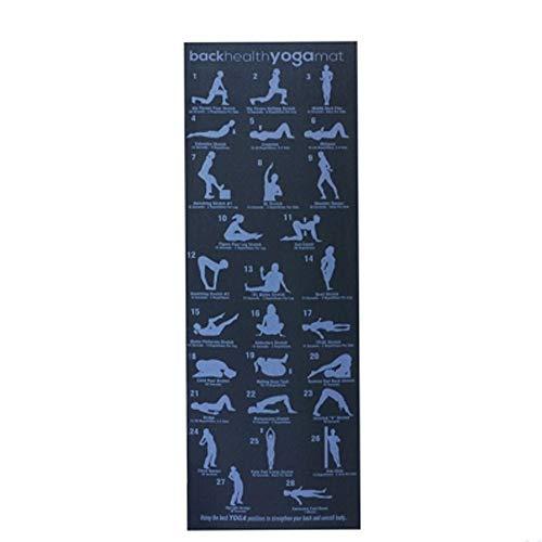 VSousT Gymnastikmatte Fitness-Unterricht Yoga-Matte gedruckt mit Illustration Pose Geeignet für Männer und Frauen Rutschfeste umweltfreundliche PVC ungiftig Familie oder Fitnessstudio yogamatte