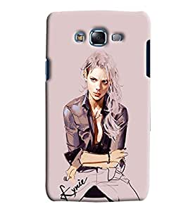 Blue Throat Girl Cartoon Printed Designer Back Cover/ Case For Samsung Galaxy J7