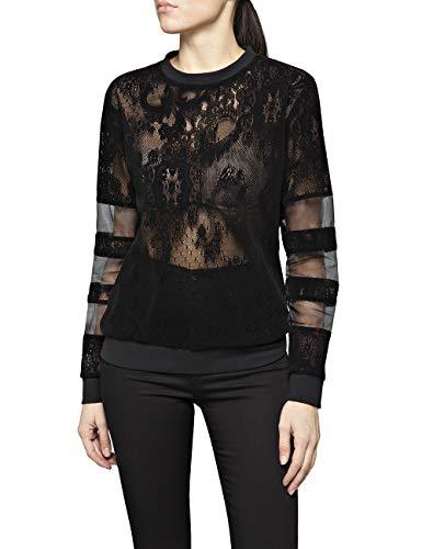 Replay Damen W3280 .000.83496 Sweatshirt, Schwarz (Black 98), Small (Herstellergröße: S)
