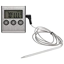 Digital Grill BBQ Thermometer Timer Cooking Food Meat Probe Temparature Tester