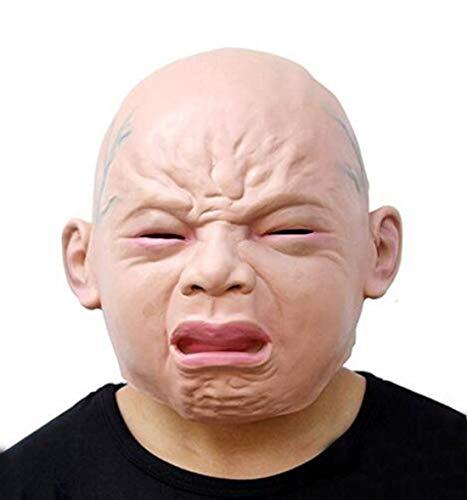 Halloween Maske Lustige Party Gesichtsmasken Gruselige Halloween Kostüm Prop Cry Baby Vollkopf Latex Maskerade Maske