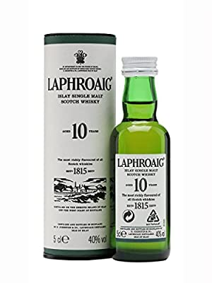 Laphroaig 10 Year Old Single Malt Scotch Whisky (12 x 5cl Miniature Bottles)