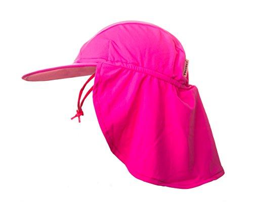 yoccoes Chapeau pour bébé et enfant, 18–36 mois, anti UV UPF50 + modèle legionär, rose.
