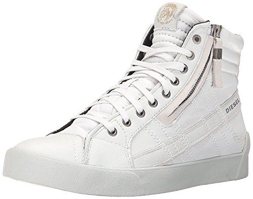 #Diesel D Velows D String Plus White Mens Leather Hi Trainers -