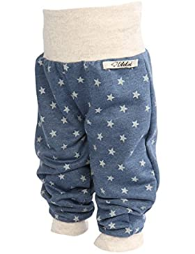 Lilakind Pumphose Hose Babyhose Jersey Sweat Jeansblau Sterne - Made in Germany