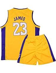 Sokaly Niños Chicago Bulls Jorden # 23 Curry#30 James#23 Conjunto de Camiseta
