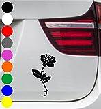 wDesigns Autoaufkleber ROSE BLUME FLOWER Tuning Aufkleber Sticker Sprüche Decal 20cm