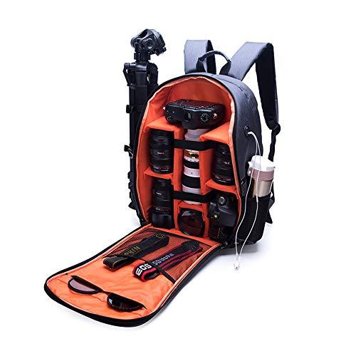 GXHGRASS Faltbarer Digitalkamera-Rucksack, 15,6-Zoll-Laptop-Diebstahlschutz-Fotorucksack, 32 * 18 * 46 cm wasserdichte Abnehmbare Nylontrennwand Atmungsaktive Dekompression,A