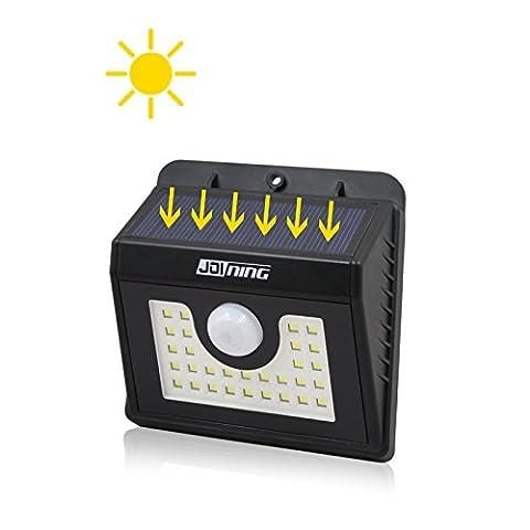 30 LED Solarleuchten mit Bewegungsmelder außen Solarwandleuchte, 3 Intelligenten Modi, IP 65 Wasserdichte für Garten Terrasse Balkon