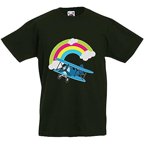 Bambini Collezione 207, Fruit of the Loom Valueweight Tee Verde Bottiglia Bambino Ragazzo Maglietta Kids Boys T-Shirt. Taglia 92 98 104 116 128 140 152 164, 1-15