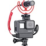Yantralay School Of Gadgets V2 Vlogging Housing Case with Cold Shoe Mount for Microphone,LED Light Compatible with Hero 5 6 7 Black Action Camera