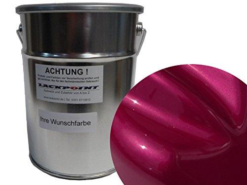 Lackpoint 1 Liter Spritzfertig Wasserbasislack Candy Pink Metallic Autolack -