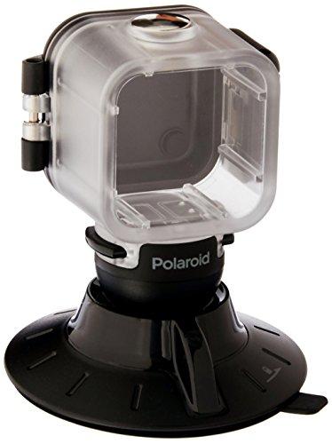 Polaroid Saugnapf-Halterung für Polaroid Cube, Cube+ HD-Action-Lifestyle-Kamera-inklusive wasserdichte Hülle